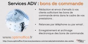 ADV : Réalisation des démarches d'obtention des bons de commande