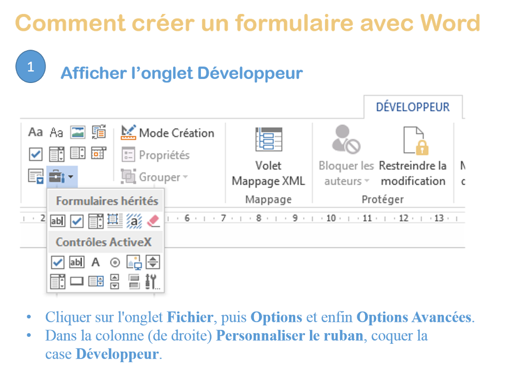 Comment cr er facilement un formulaire avec word optim office - Comment obtenir un avocat commis d office ...