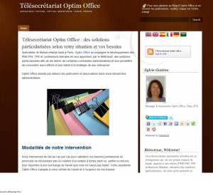 Les premières pages du blog Optim Office en 2010