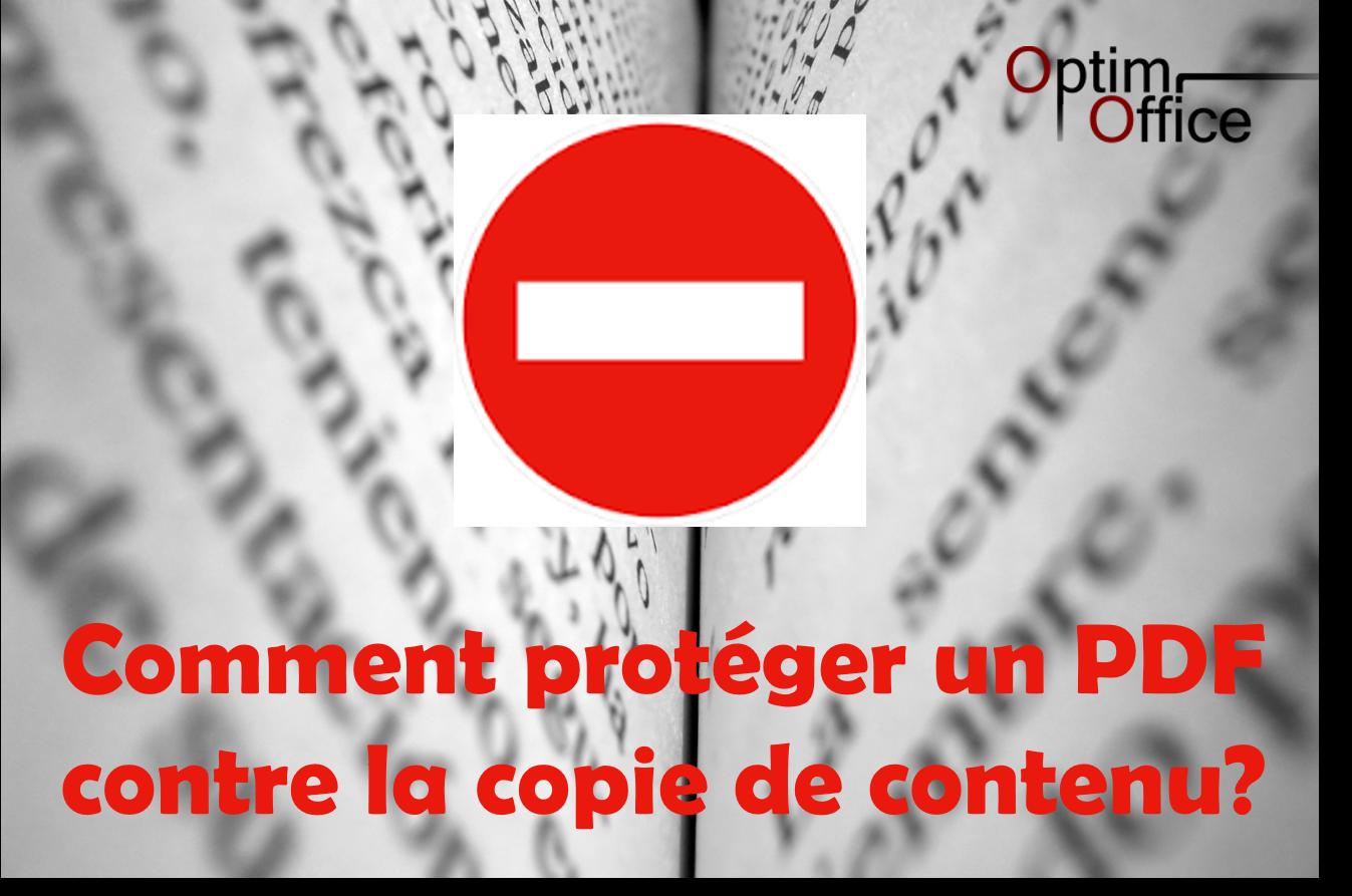 comment prot u00e9ger un document pdf contre la copie