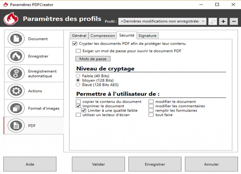 Empêcher un utilisateur de copier votre pdf avec pdfcreator