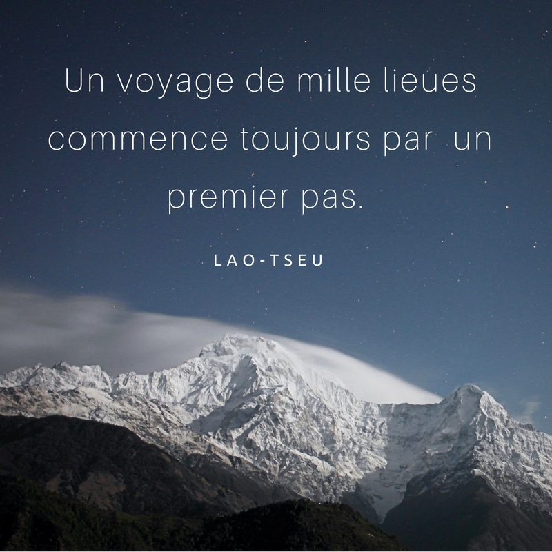 passer à l'action - citation Lao Tseu