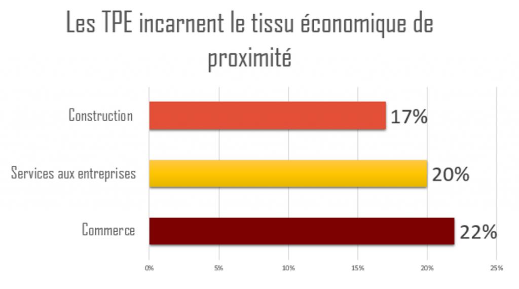 Répartition des TPE dans les différents secteurs d'activité