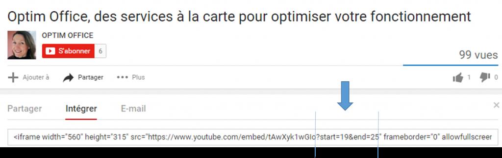 Comment intégrer une portion d'une vidéo dans un article