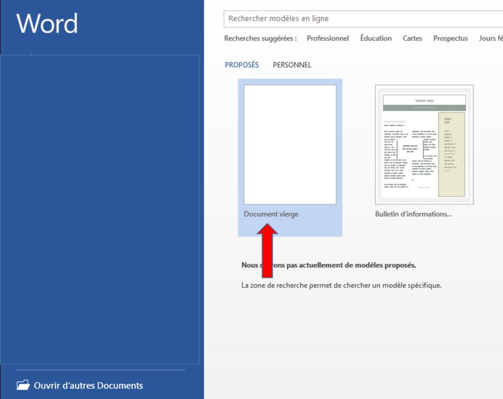 récupérer un document Word non enregistré