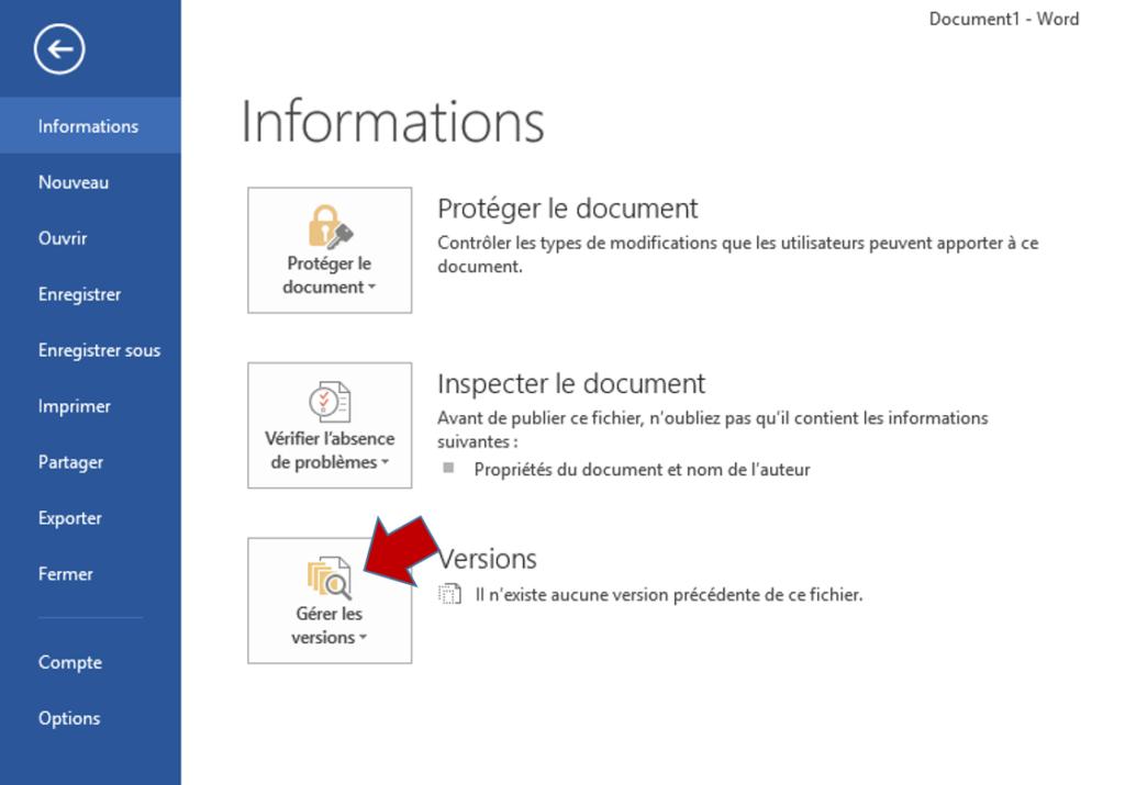 Comment récupérer un document Word non sauvegardé