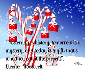 Citation d'Eleonor Roosevelt sur le passé, le présent et le futur