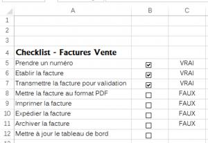 les étapes de création d'une checklist dans excel