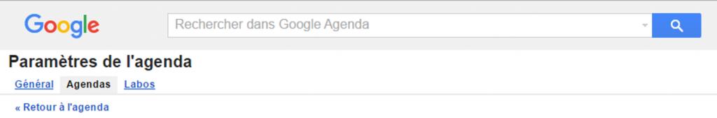 comment connaître l'adresse URL privée d'un agenda hébergée par Google