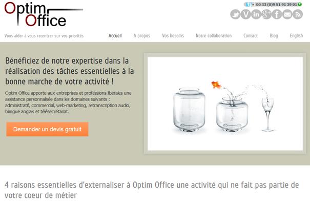 Site web Optim Office www.optimoffice.fr