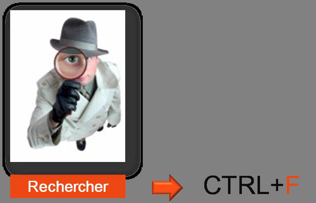 Rechercher des informations dans un document Word avec les touches CTRL+F
