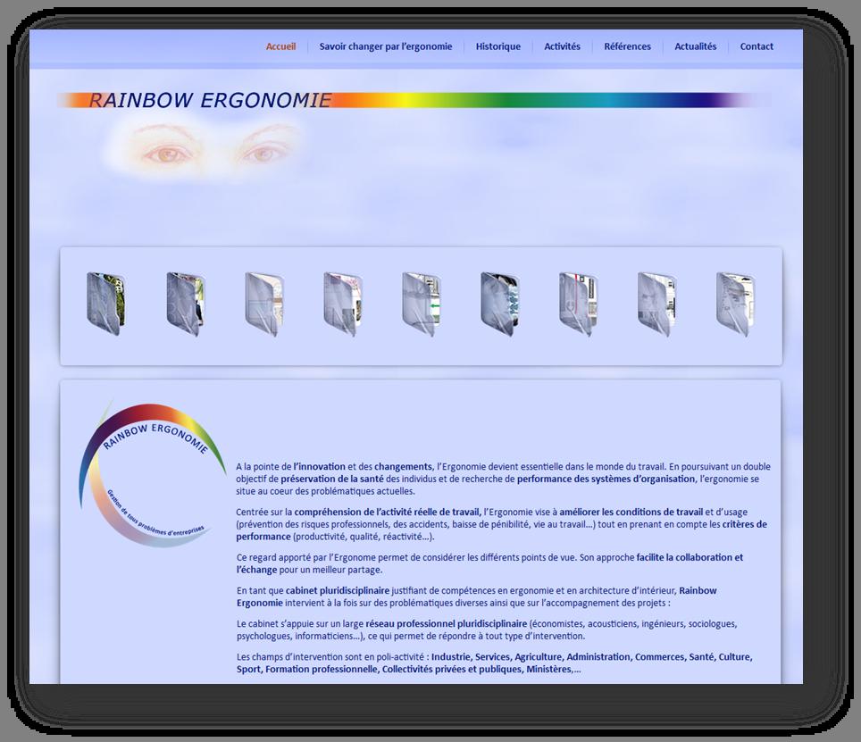 développement sous wordpress d'un site web initialement conçu avec la technologie flash