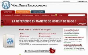 site officiel pour télécharger les fichiers wordpress
