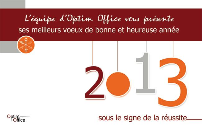 carte de voeux 2013 - Optim Office